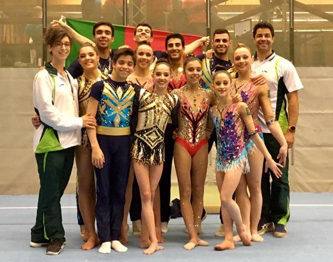 Portugal com ouro e prata na Taça do Mundo de acrobática