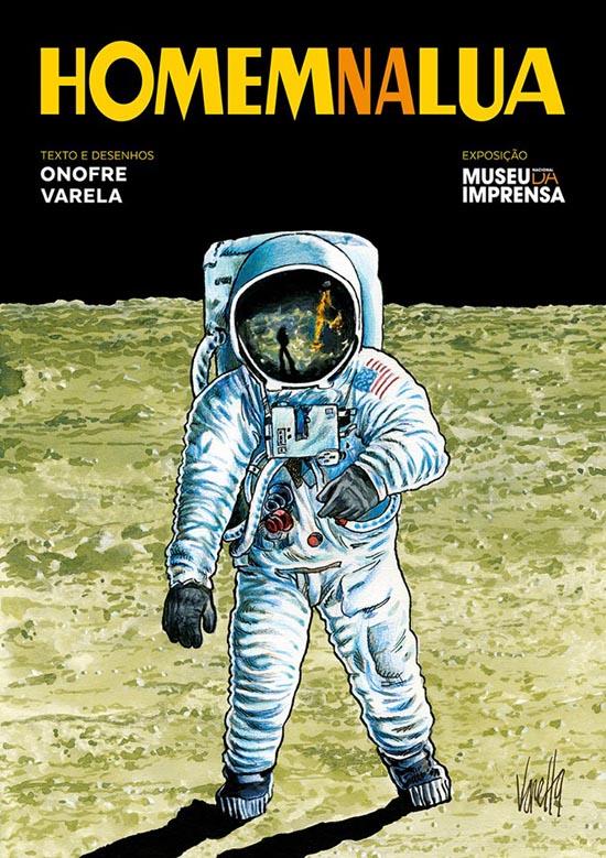 """""""Homem na Lua"""" em BD"""