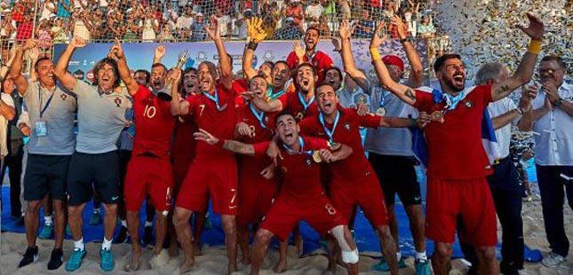 Portugal é campeão europeu de futebol de praia