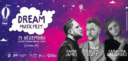 Dream Music Fest junta Calum Scott, Gavin James e Carolina Deslandes