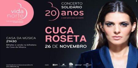 Último concerto do ano de Cuca Roseta acontece na Casa da Música e é solidário