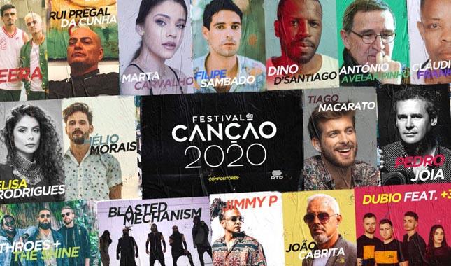 RTP revela os compositores para o Festival da Canção 2020