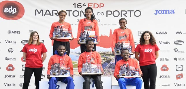 Atletas etíopes dominam Maratona do Porto