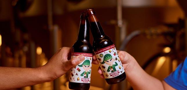 Já é possível brindar ao Natal com cerveja de chocolate