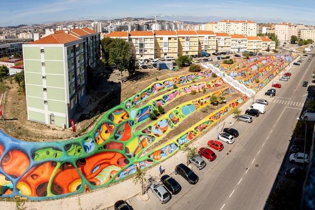Uma das maiores obras de arte urbana da Europa tem as cores da CIN