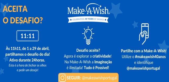 Make-A-Wish® lança desafios aos portugueses